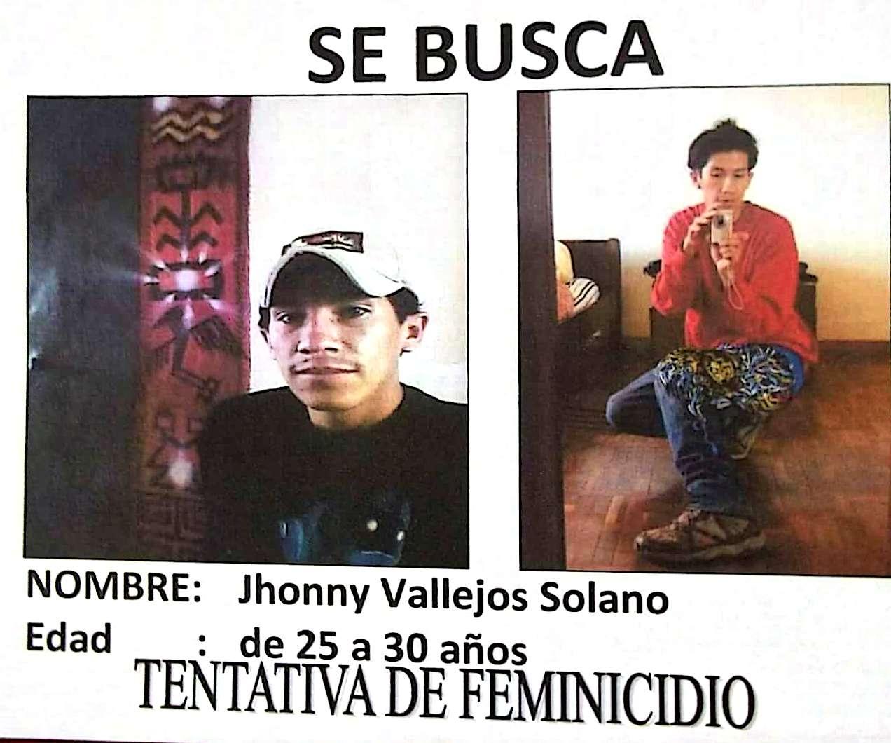 Jhonny Vallejos Solano, feminicida.